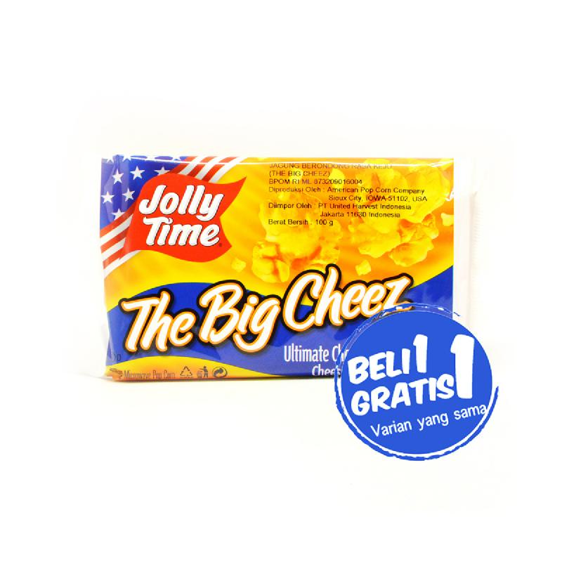 Jolly Time Pop Corn The Big Cheez 100 Gr (Buy 1 Get 1)