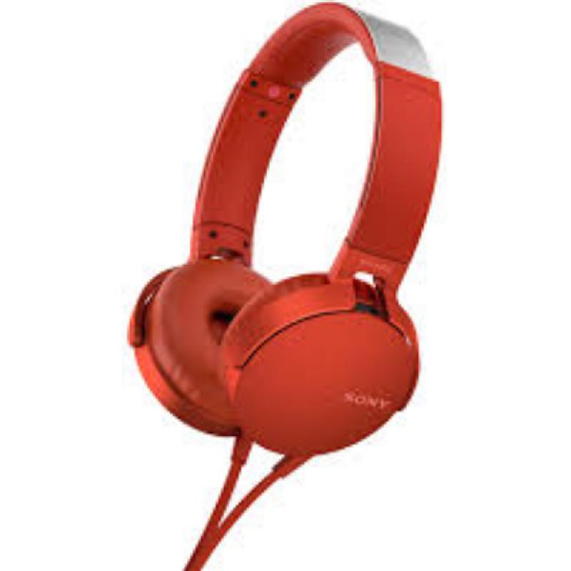Sony in Ear Headphone MDR-XB550AP Red