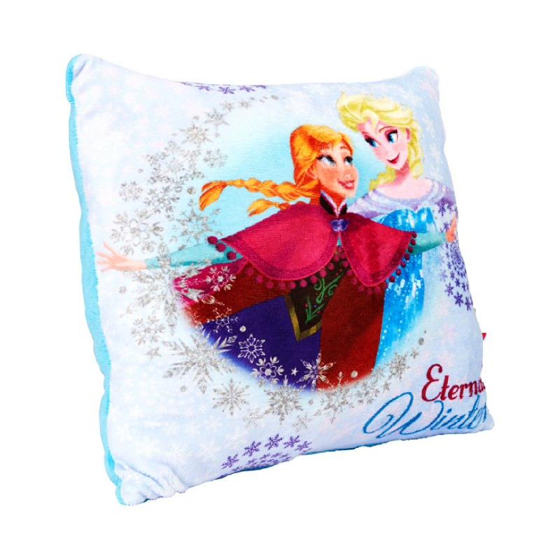 Frozen Sq Cushion White