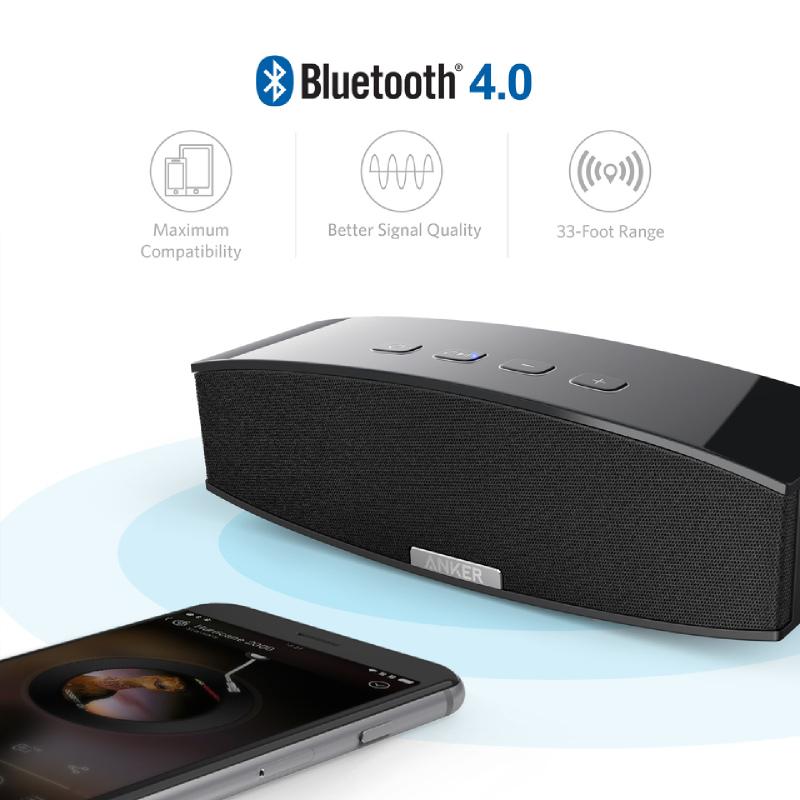 Anker Speaker Portable Premium Stereo Bluetooth A3143H11 Hitam