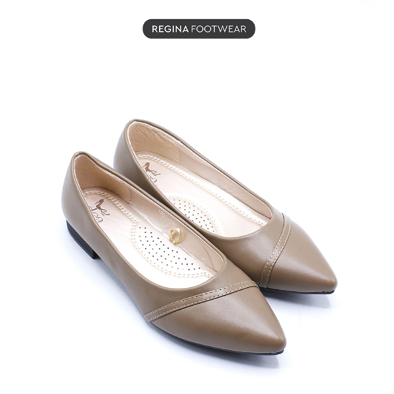 Dea Pointed Pin Flat Shoes 1808-110 – Khaki