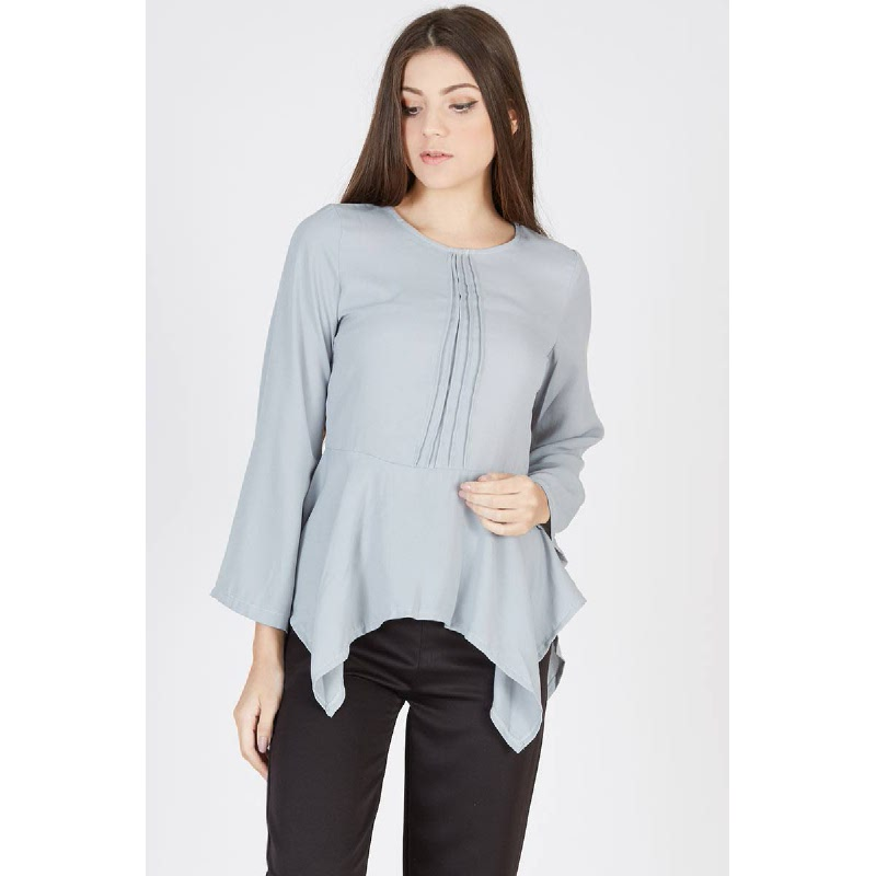 Pacey Flare Top Grey