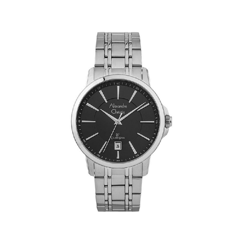 Alexandre Christie AC 8636 MDBSSBA Mens Watch Stainless Steel Silver Black