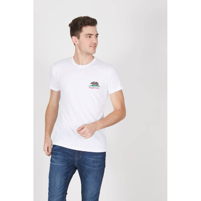 Men California Tshirt White