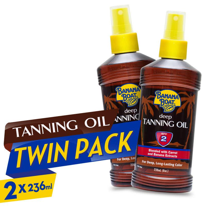 Banana Boat Deep Tanning Oil SPF2 236ml 2pcs