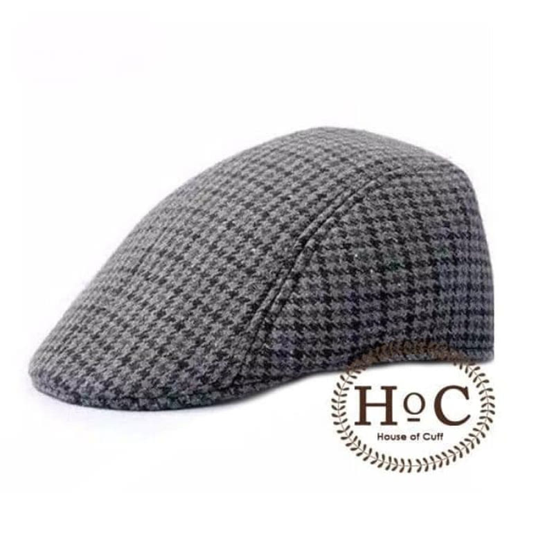 House Of Cuff Topi Painter Topi Pelukis Painter Hat Dark Houndstooth