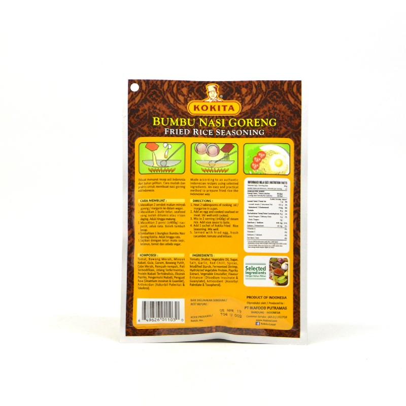 Kokita Bumbu Nasi Goreng Extra Mild 60 Gr