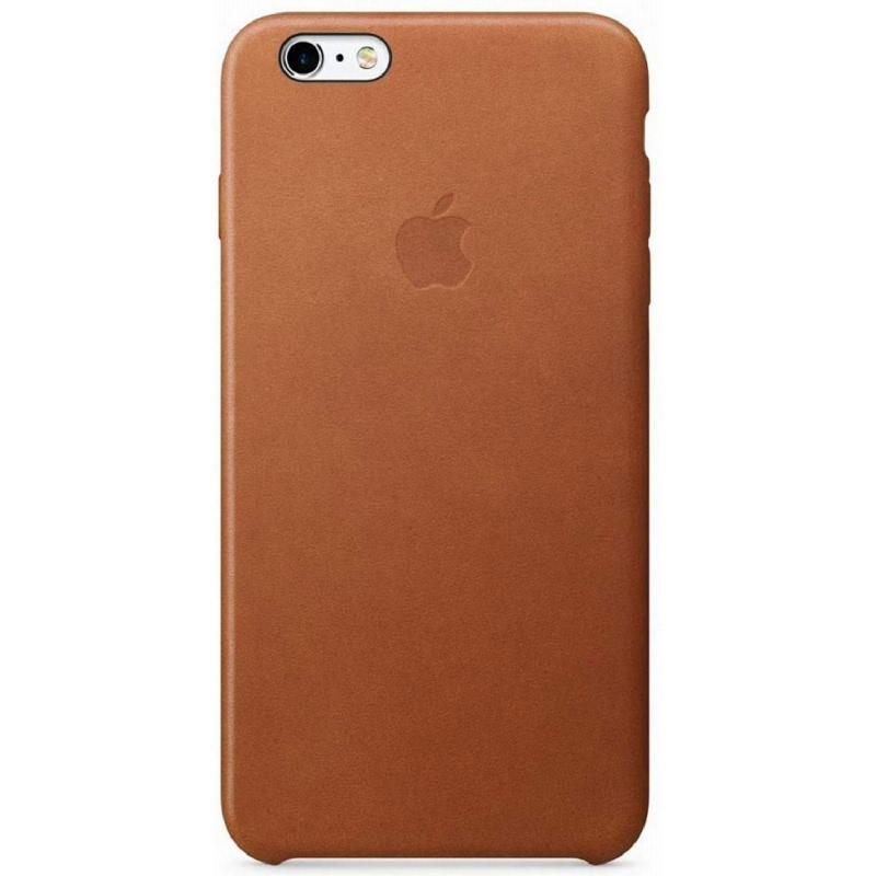 Apple Original iPhone 6S Plus - 6 Plus Leather Case Premium Saddle Brown