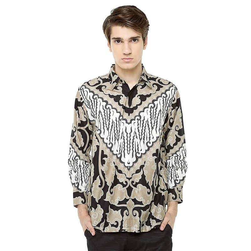 Adinata Batik Paraduta Hem Panjang Grey