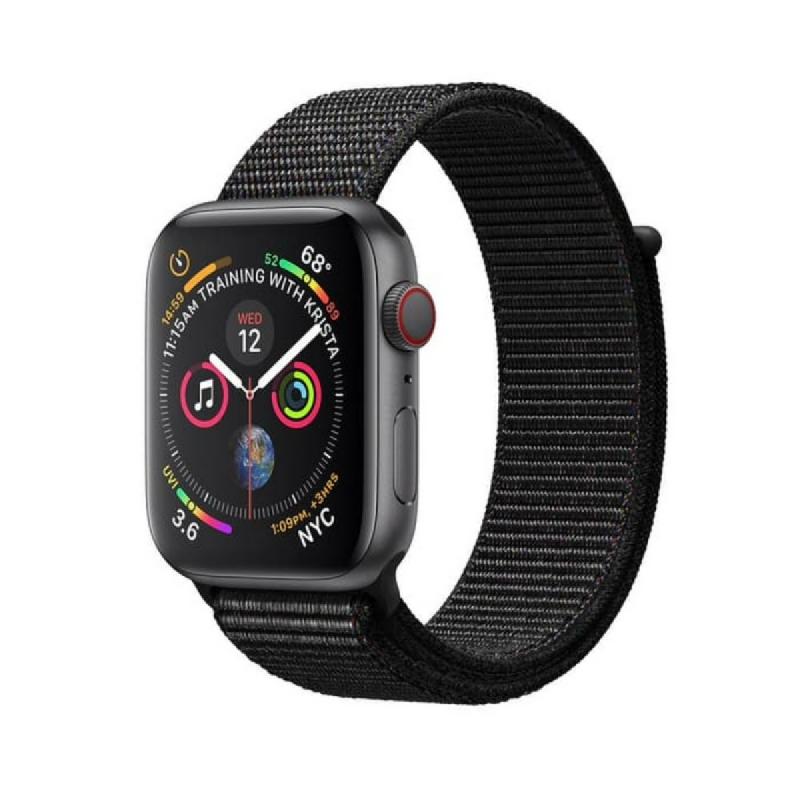 AppleWatch Series4 GPS, 44mm Space Grey Aluminium Case with Black Sport Loop
