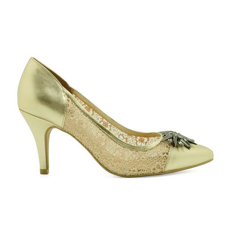Apple Green Heather Pumps Gold