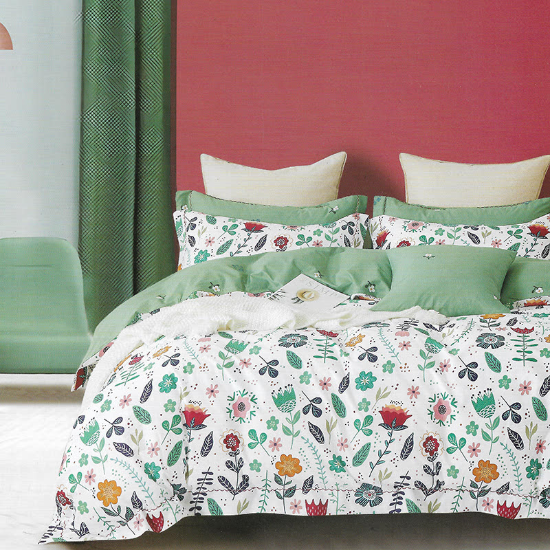 Sleep Buddy Set Sprei White Slow Cotton Sateen 160x200x30