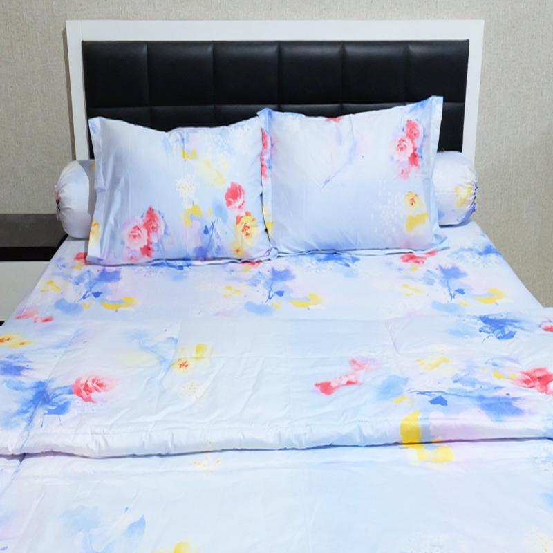 Sleep Buddy Set Sprei dan Bed Cover City Light Cotton Sateen 200x200x30