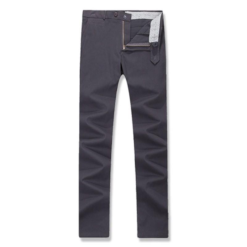 Coin Pocket Cotton Span Pants - Grey