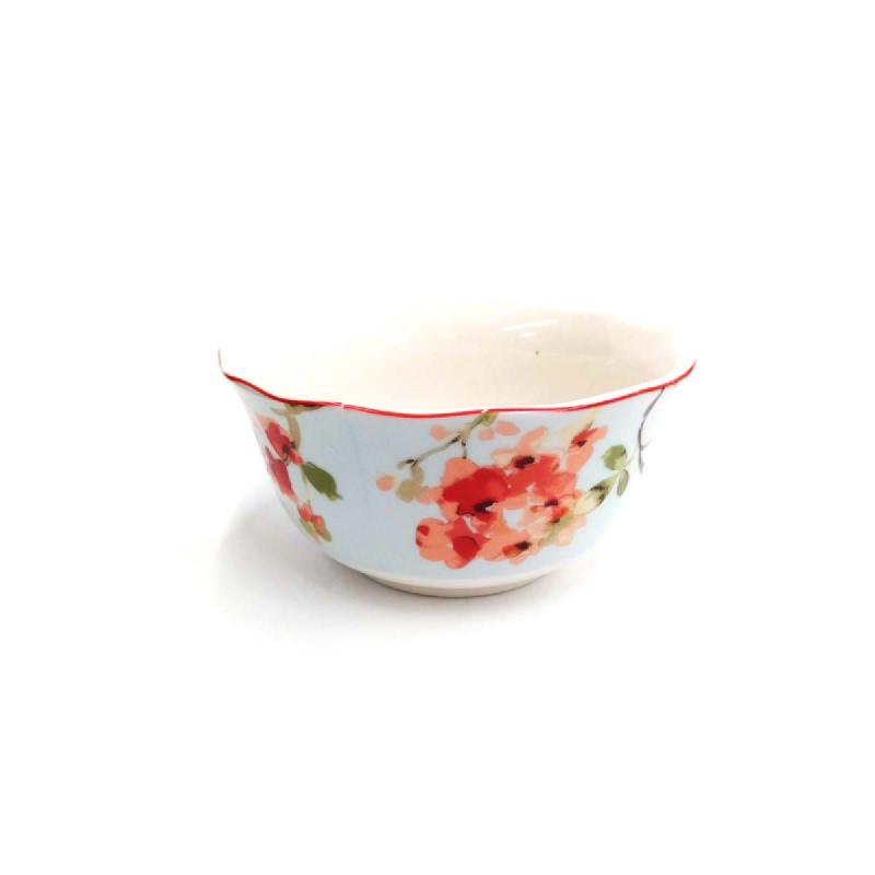 Sango Mangkuk Sereal Corak Bunga Sakura Biru