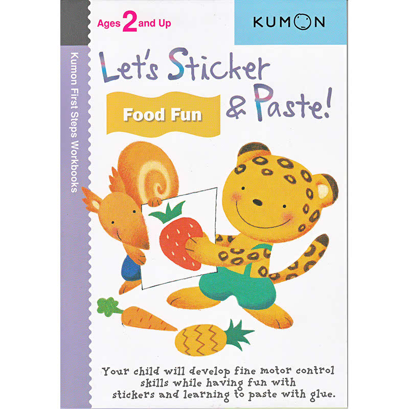 Kumon Let's Sticker and Paste! Food Fun