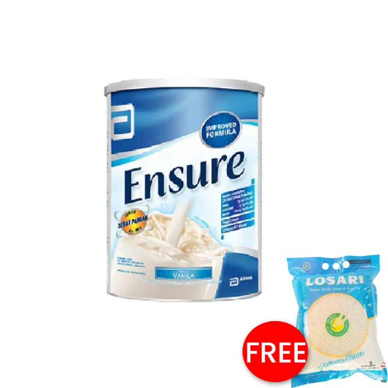 Abbott Powder Milk Ensure Fos Vanilla Tin 1000G (Buy 1 Get 1 Free)