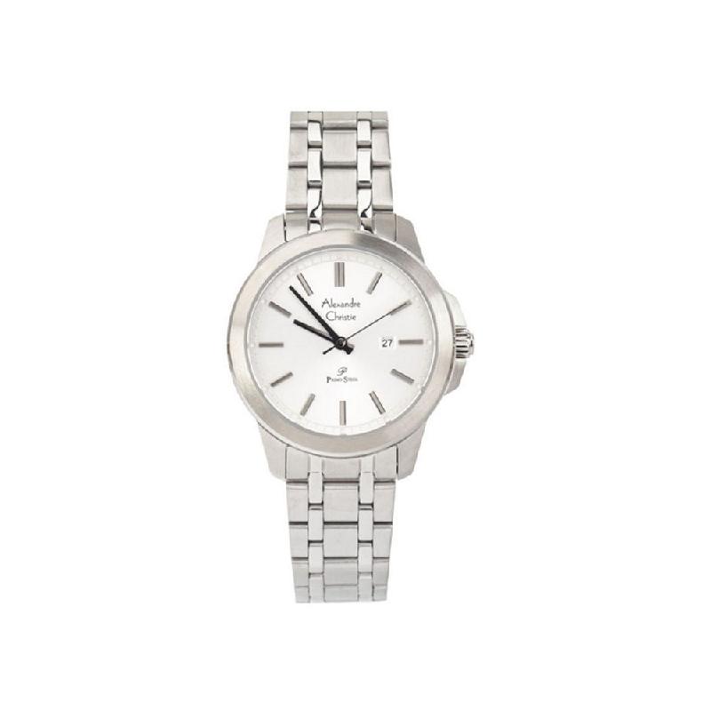 Alexandre Christie AC 1017 LDBSSSL Women Watch Stainless Steel Silver White
