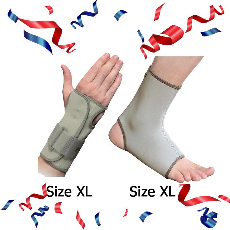 E-Life Universal Wrist Brace Size XL + E-Life Longer Ankle Brace Size XL