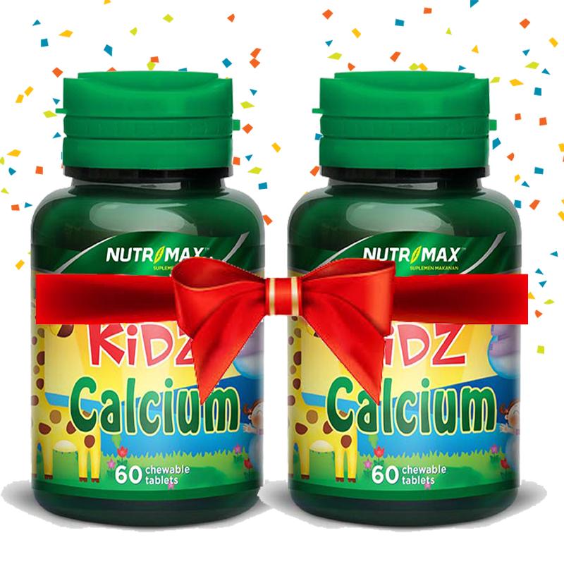 Buy 2 Bottle Nutrimax Kidz Calcium 60 Tablet Kunyah