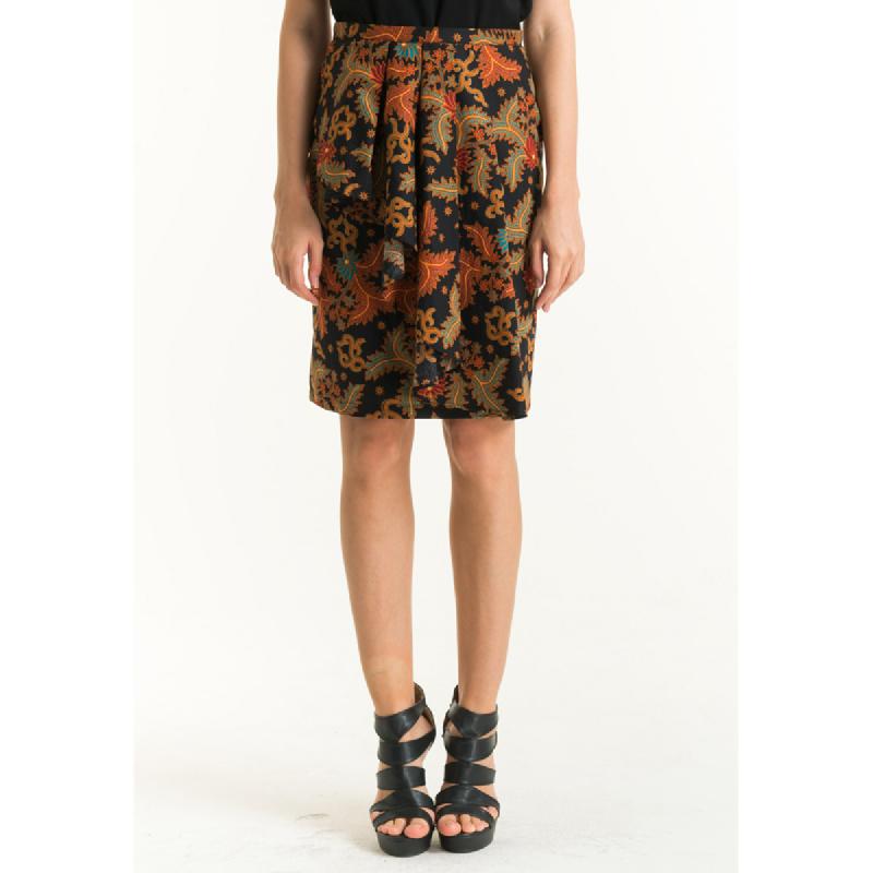 Bateeq Women Regular Cotton Print Skirt FL012D-SS18 Black