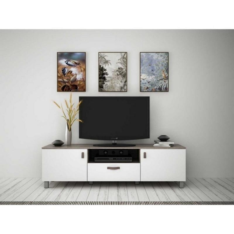 Anya Living Rakki Tv Stand Sonoma Cream - White