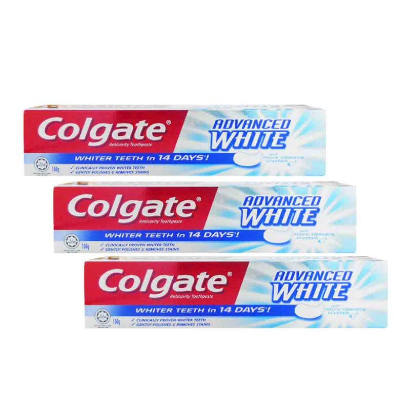 Colgate Pasta Gigi Advance White 160Gr (Buy 2 Get 1)