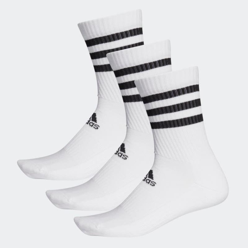 Adidas 3-Stripes Cushioned Crew Socks 3 Pairs DZ9346