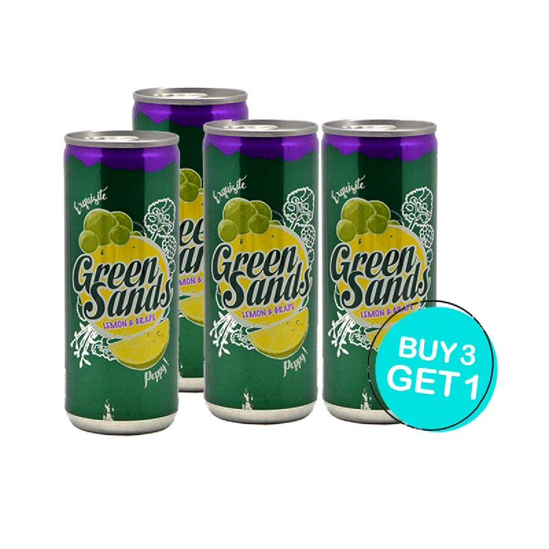 Green Sands Minuman Ringan Rasa Lemon & Anggur 250 Ml (Buy 3 Get 1)