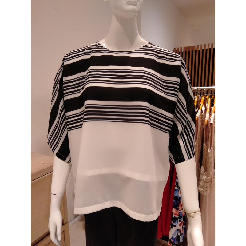 Basa Rachel Blouse Bw Stripe