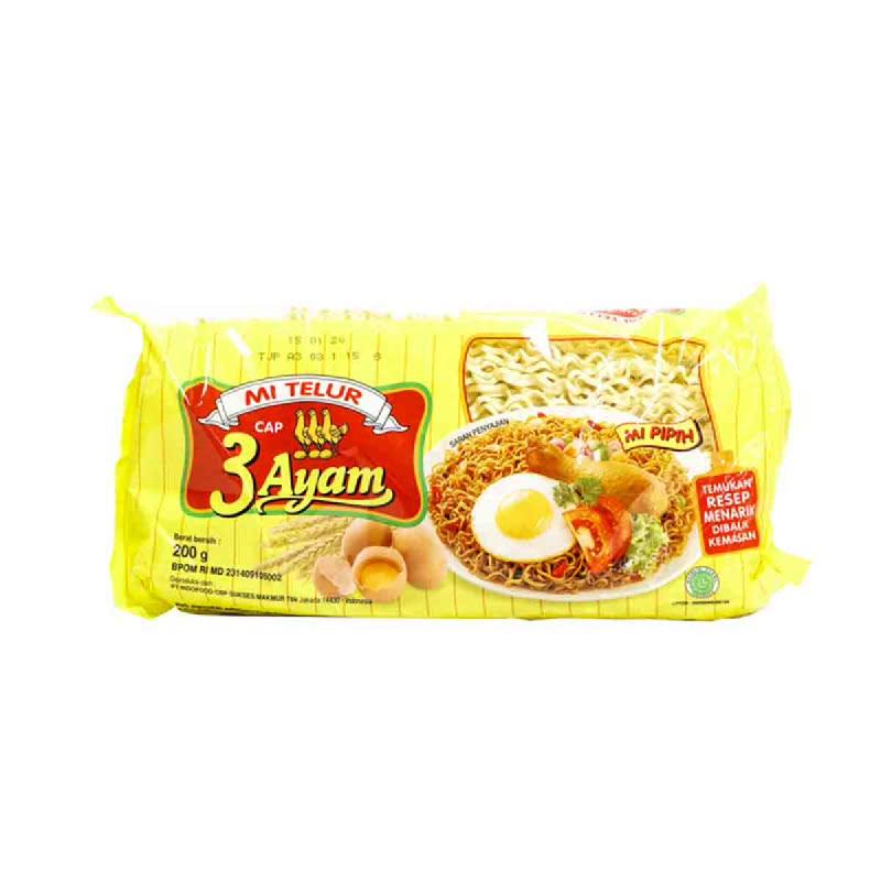 3 Ayam Mie Telor Kuning 200 Gr