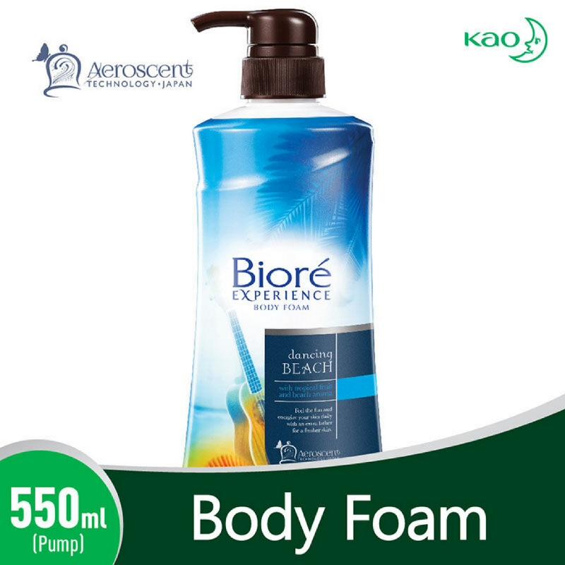 Biore Body Foam Dancing Beach Pump 550 ml