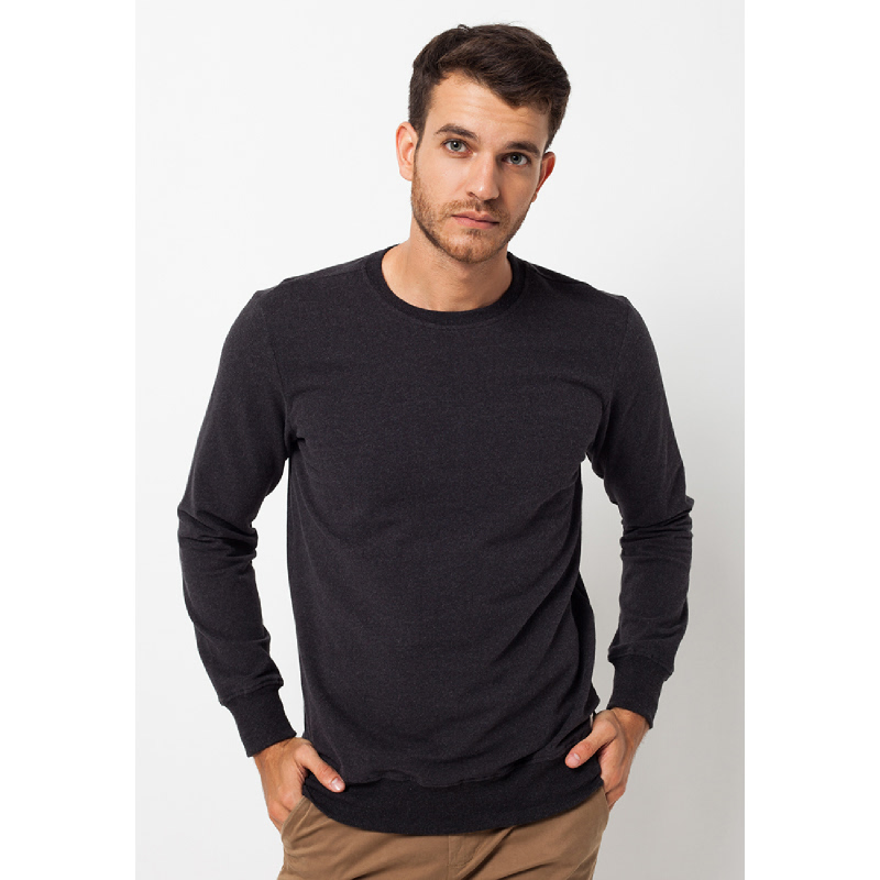 Black Basic Sweatshirt