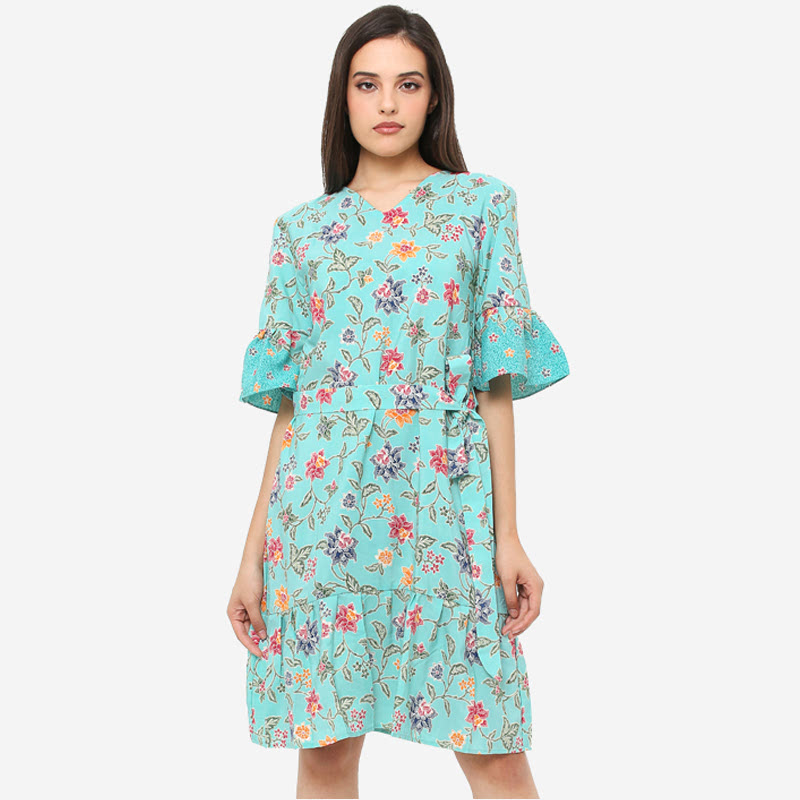Anakara Flaria Dress Mavi Spring  Blue
