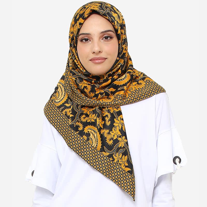 Anakara Square Headscarf Goldy Night Black