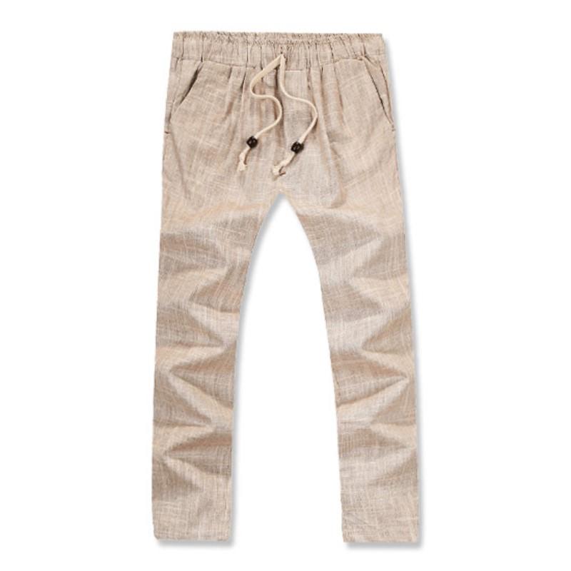 Lux Linen Washing Pants - Beige