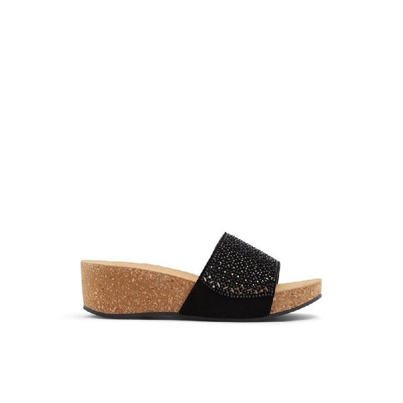 Aldo Ladies Sandals Wedges Anadriethien 001 Black