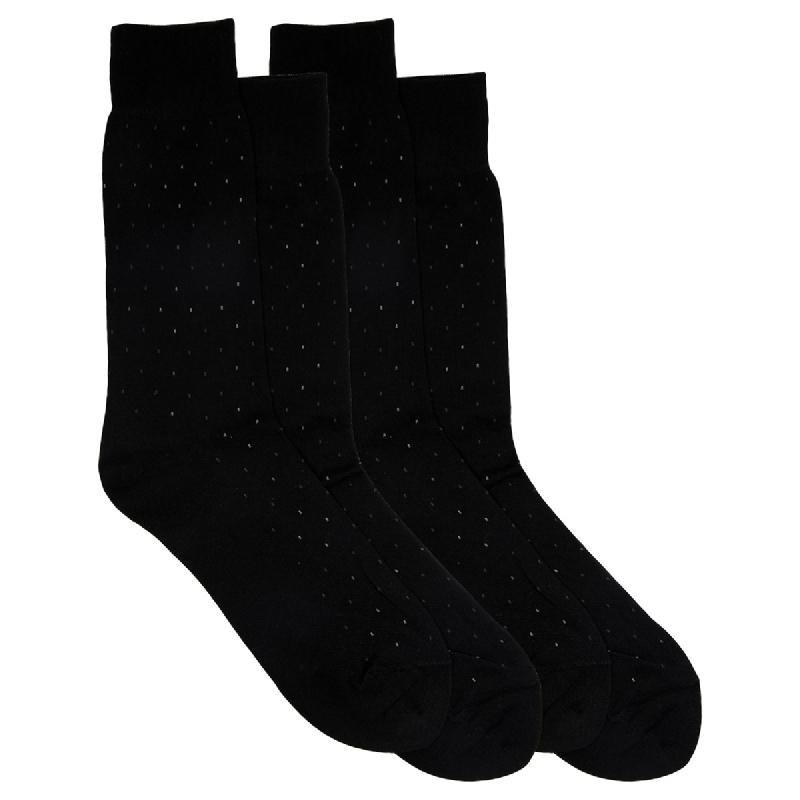 Gunze Men Casual Socks 1Box isi 2 Pasang S9542 Black