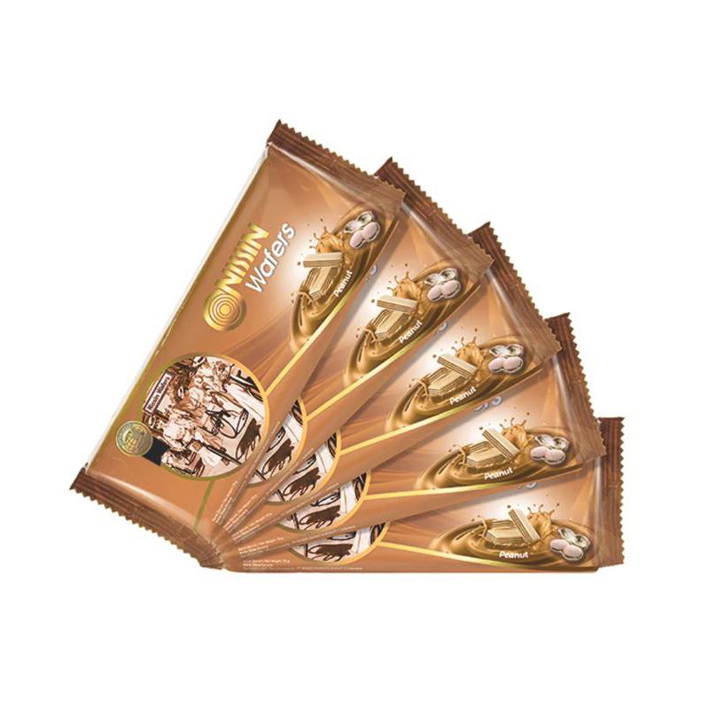 Nissin Wafers Peanut 75 gr x 5 Pack