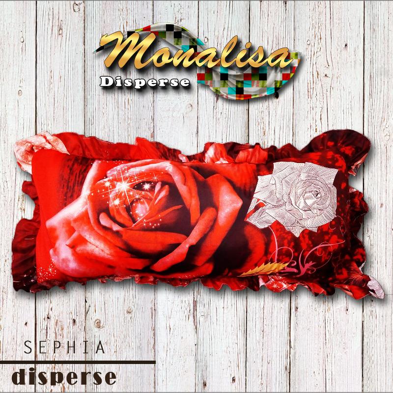 Monalisa Sarung Bantal Cinta Besar Uk 45x95 cm - Sephia