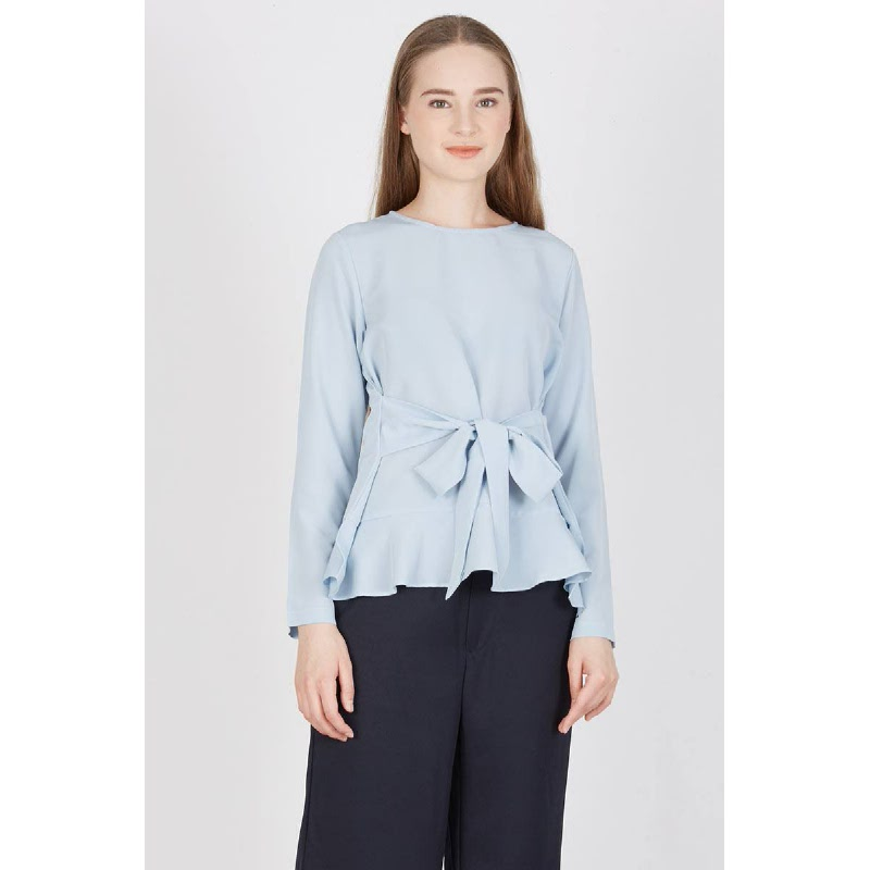 Raysel Knot Top Blue