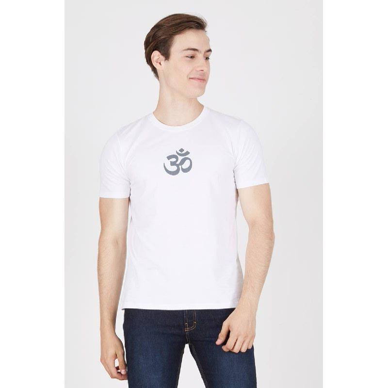 Men Namaste Tshirt White