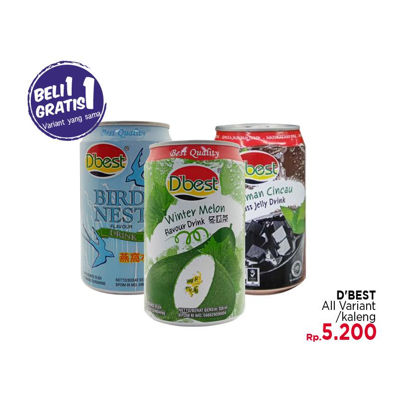 D Best Grass Jelly 320ml (Buy 1 Get 1)