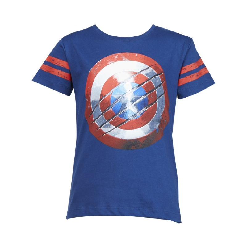 Civil War Shield Captain America T-Shirt Kids Blue
