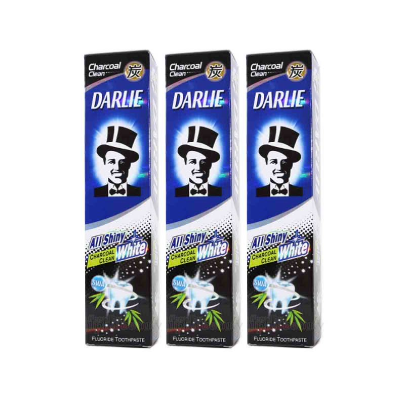 Darlie Pg All Shiny White Charcoal 160G (Buy 2 Get 1)