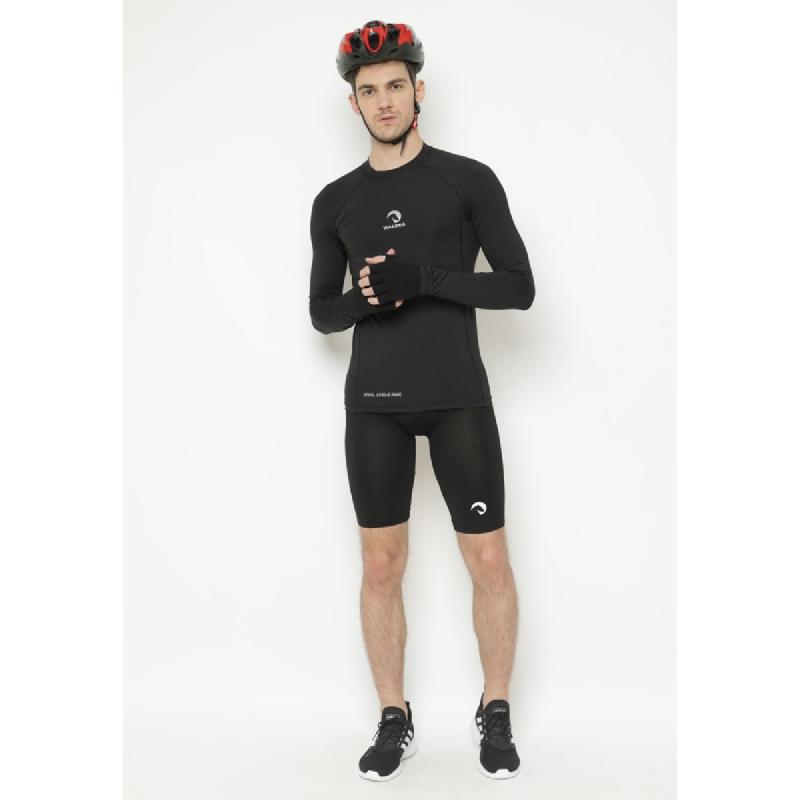 1 Set Short Baselayer + Compression Sepeda Waldos Cycling Manset Jersey Panjang