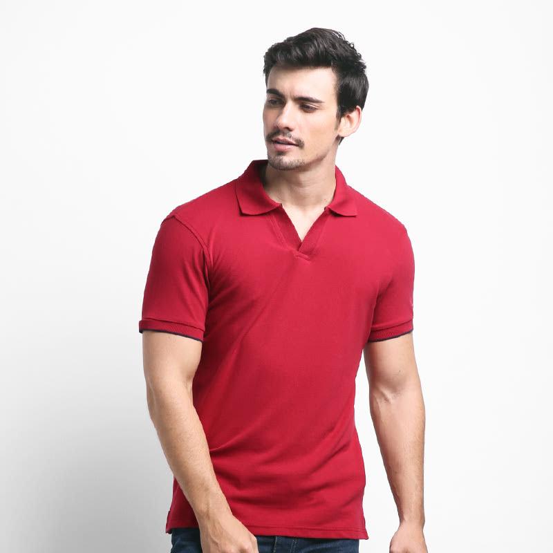 Giordano Kaos V-Polo T-shirt Signature Red