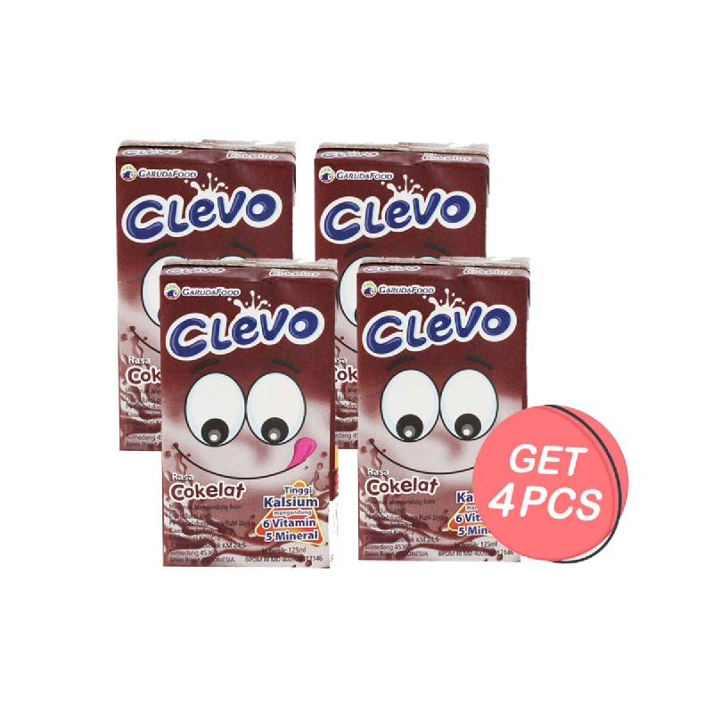 Clevo Susu UHT Rasa Coklat 125 Ml (Get 4)