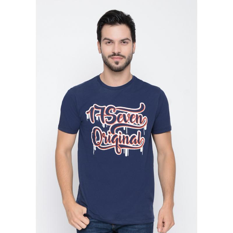 17Seven Light Raw Men Tshirt Navy