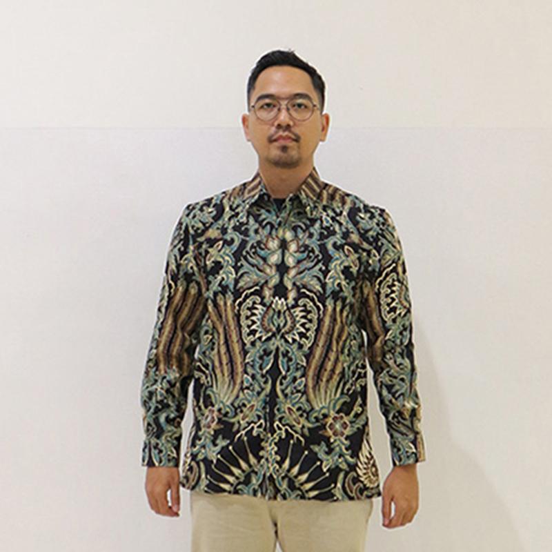 Batik Semar Pria Hem Panjang Full Tricot Doby Lelampahing Jagat Kc 61 M Rg
